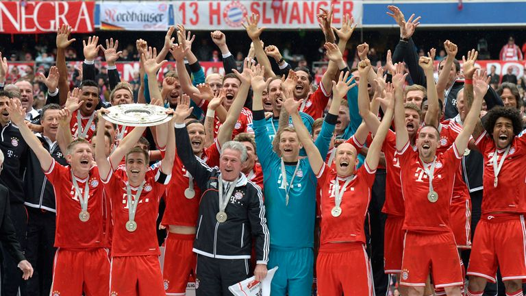 Bayern Munich: Broke a host of records in winning the Bundesliga this season