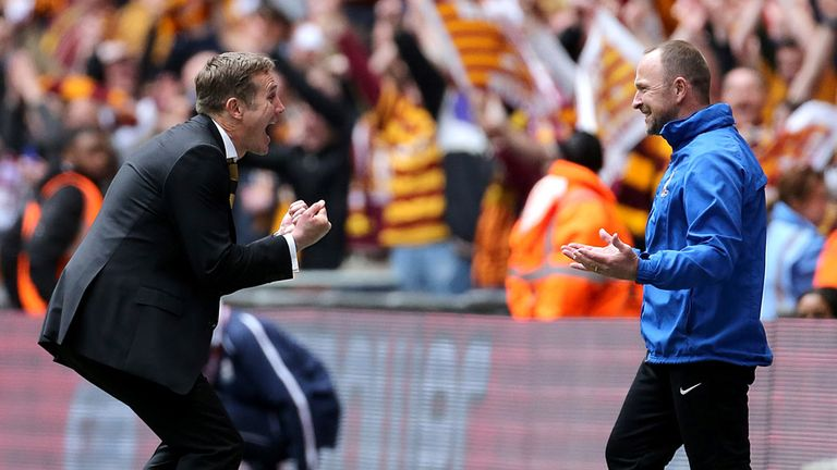 Phil Parkinson (L): On the verge of penning a new contract