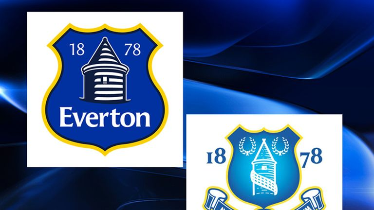 The new crest (left) alongside the old