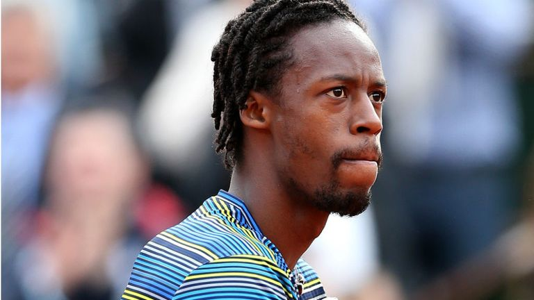 Gael Monfils: The Frenchman upset big-serving Canadian Milos Raonic