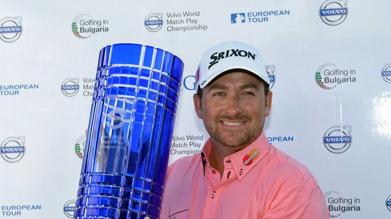 Graeme McDowell with last year's Volvo World Match Play trophy