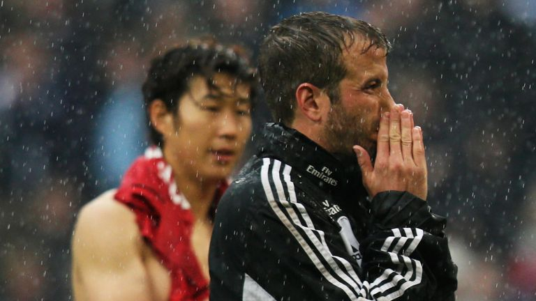 Hamburg's Rafael van der Vaart is left dejected at full-time