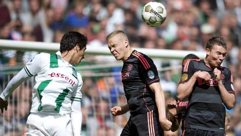 Kolbeinn Sigthorsson (centre): The Ajax striker settled the match