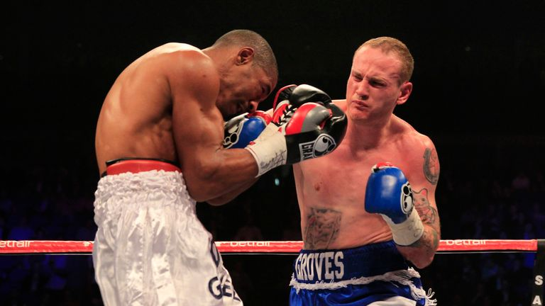 George Groves knocked out Noe Gonzalez in the fifth round (pic by Lawrence Lustig)