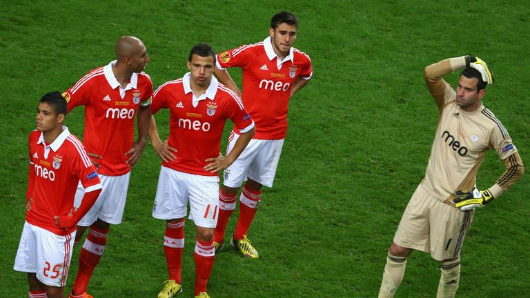 Artur: He and his Benfica team-mates were stunned after late defeat