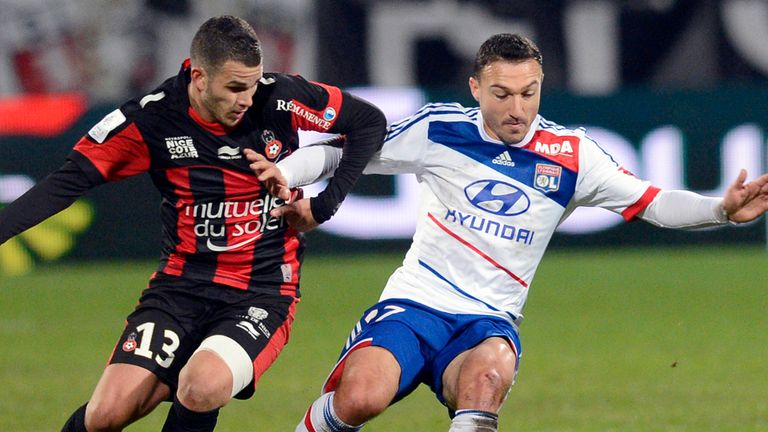 Nice v Lyon: Will face each other on Sunday after postponement