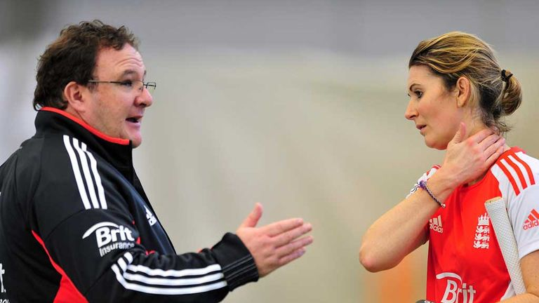 Mark Lane with England captain Charlotte Edwards