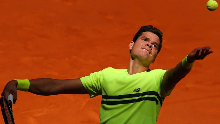 Milos Raonic: The Canadian moves into second round