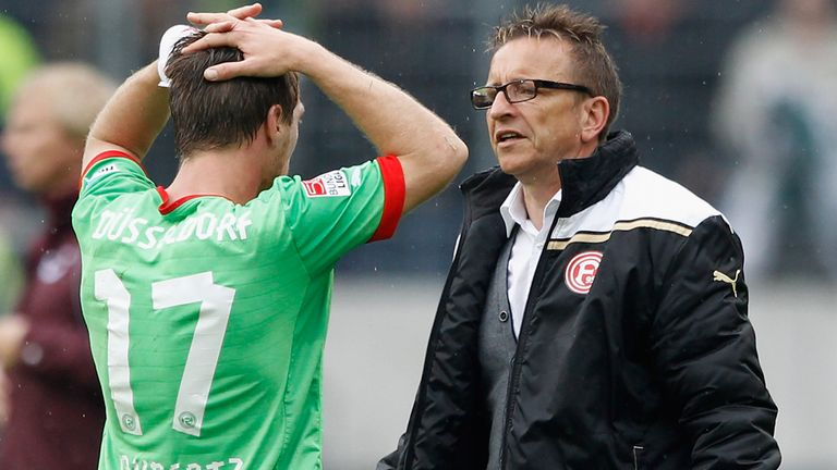 Norbert Meier (r): Has left Fortuna Dusseldorf