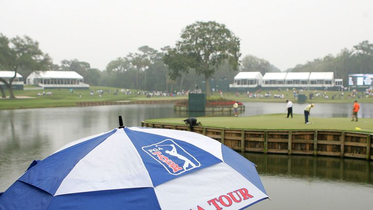 Rain has been fallling at Sawgrass - but conditions are drying out