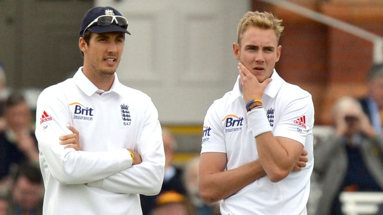 Steven Finn and Stuart Broad: Took part in England's training session