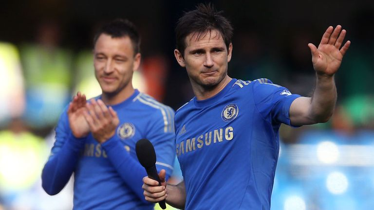 John Terry (left) and Frank Lampard (right): Have won a number of trophies together at Chelsea
