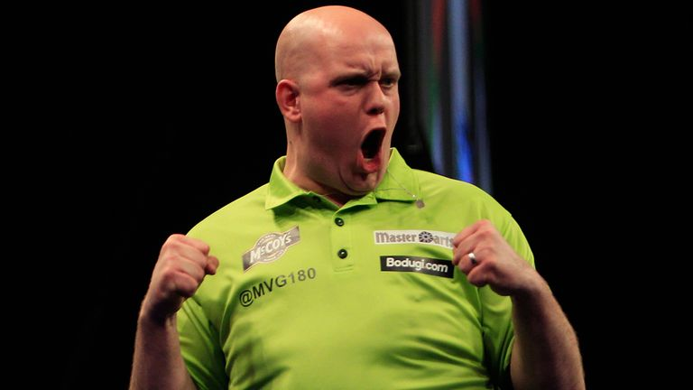 Michael van Gerwen: Powered past £100,000 in prize money in Crawley