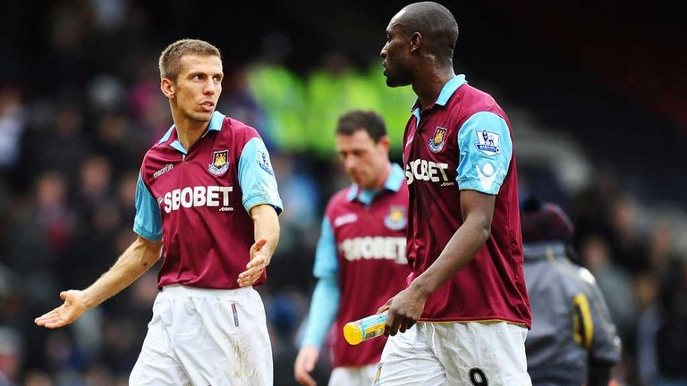 Gary O'Neil (left) is discussing his future at West Ham as the club confirms Carlton Cole is leaving