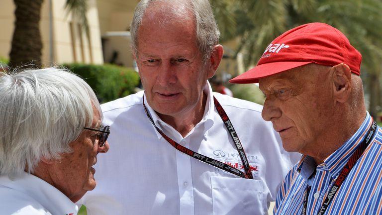 Helmut Marko (centre): test worth a second-per-lap