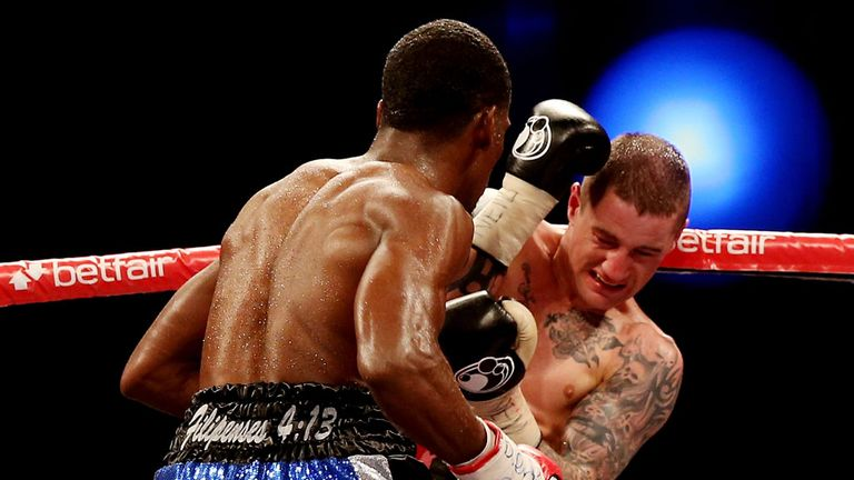 Ricky Burns takes to the ropes against Gonzalez - but there was nothing lucky about his victory