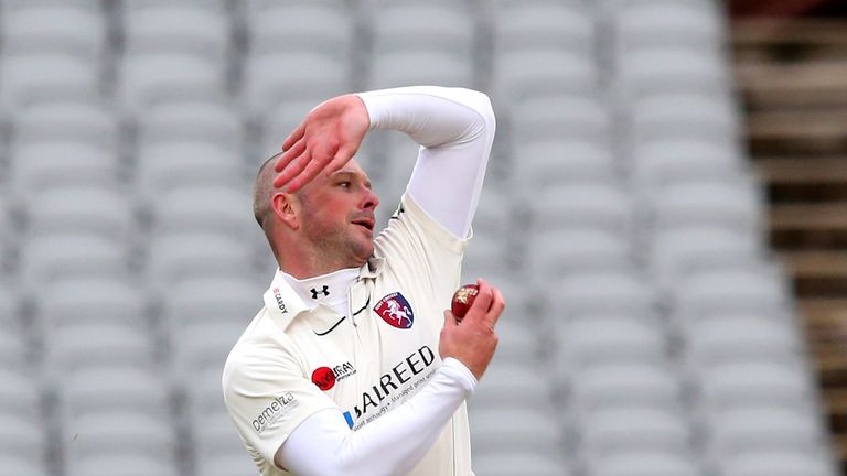 Darren Stevens: Finished as the pick of the bowlers on opening day