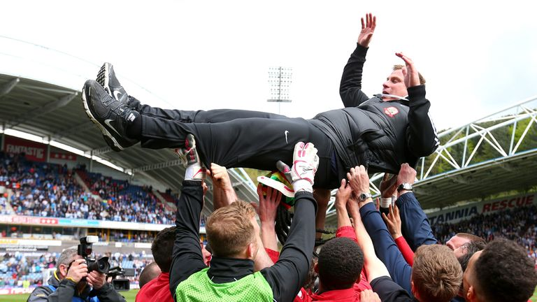David Flitcroft: Celebrations ensued after Barnsley's final day survival