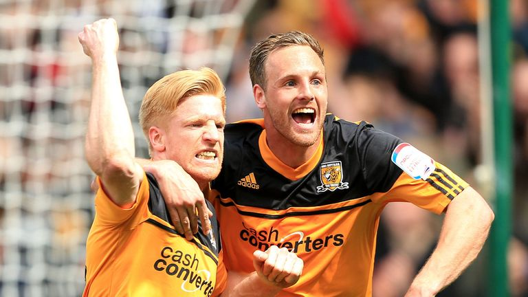 Paul McShane: Celebrates scoring the second goal for Hull