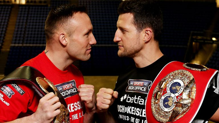 Mikkel Kessler and Carl Froch: Set to do battle for a second time on May 25