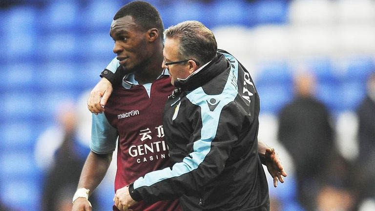 Paul Lambert: Aston Villa manager comes to the defence of Christian Benteke