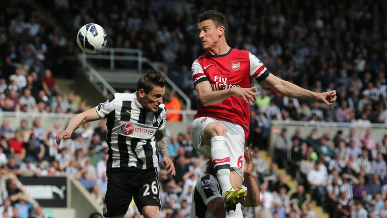 Laurent Koscielny: On target for Arsenal