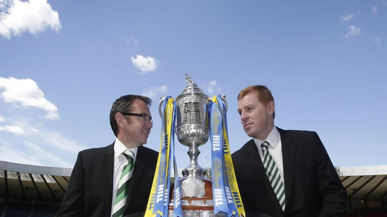 Pat Fenlon and Neil Lennon: Will battle it out for the Scottish Cup