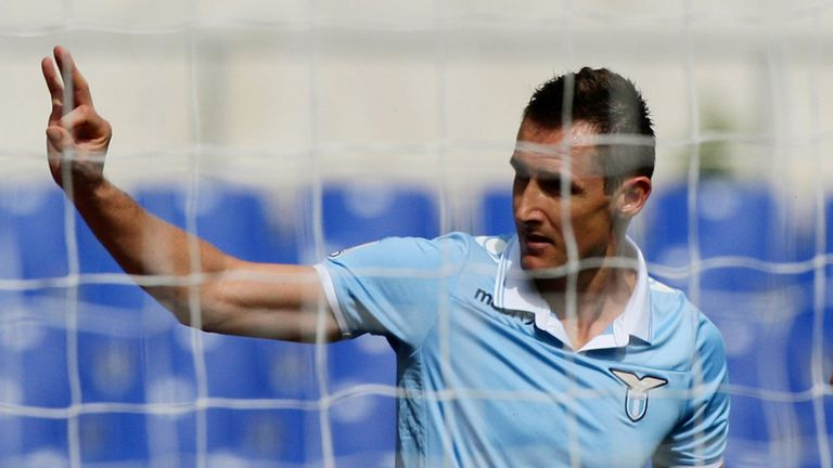 Miroslav Klose: Veteran striker expected to be out for two weeks