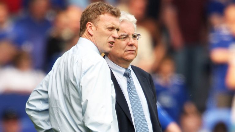 David Moyes with Bill Kenwright during their Everton days