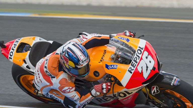 Dani Pedrosa on his way to victory at Le Mans