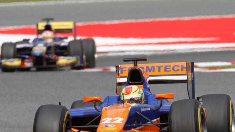 Robin Frijns: Won the GP2 Feature Race (Image: GP2 Series Media)