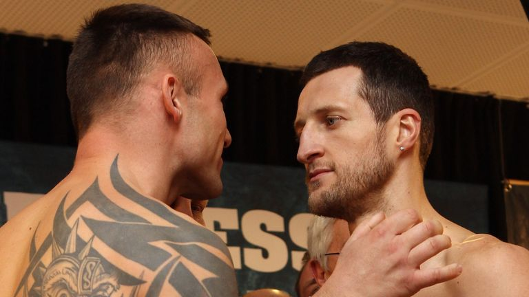 Face-off: Froch is promising to make the weigh-in intense