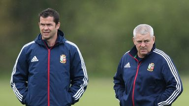 Andy Farrell (left) is expected to link up with Warren Gatland