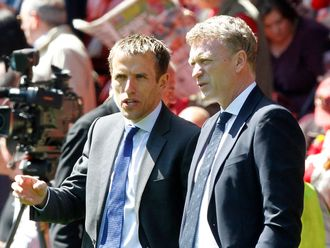 Phil Neville: Would welcome the chance to replace David Moyes