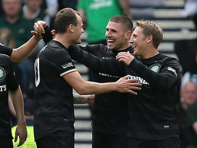 Gary Hooper scored twice as Celtic cruised to victory