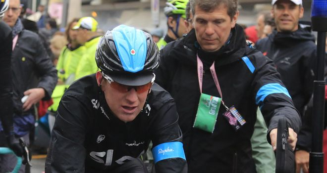 Sir Bradley Wiggins: Unable to continue and will now return to the UK