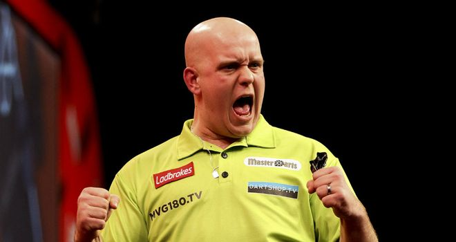 Michael van Gerwen: The Dutchman fought back from 5-2 down to lift the trophy at the O2 in London