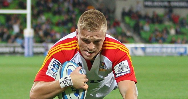 Gareth Anscombe scores the first of his hat-trick