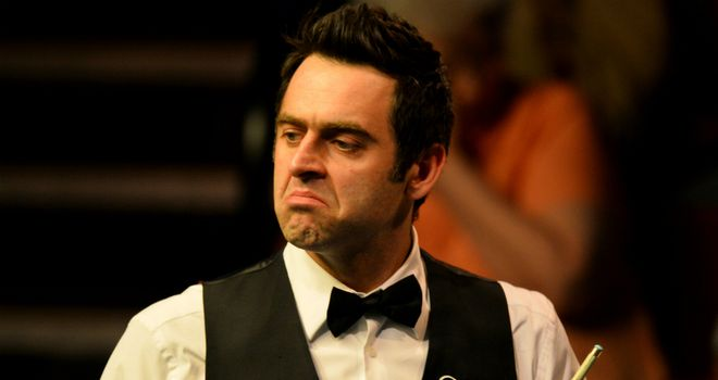 Ronnie O'Sullivan: Suffered a surprise defeat to Peter Lines on Friday in Doncaster