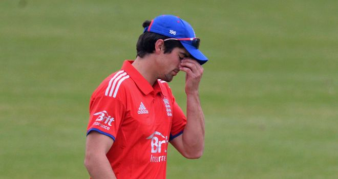 Alastair Cook felt England fell short with the bat