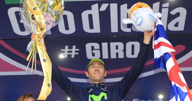 Alex Dowsett became Britain's 16th Grand Tour stage winner by taking victory at the Giro's stage eight time trial