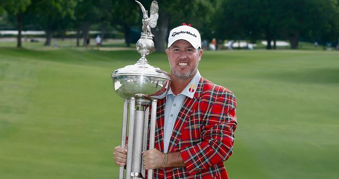 Booming Boo: Weekley's Colonial win was his third on the PGA Tour