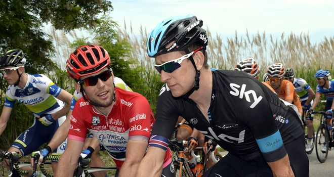 Mark Cavendish, left, and Bradley Wiggins, right, will lead a strong British contingent