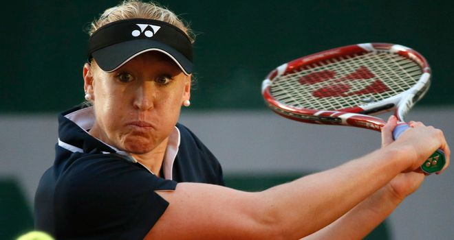 Elena Baltacha: Reclaimed the Aegon Nottingham Challenge title
