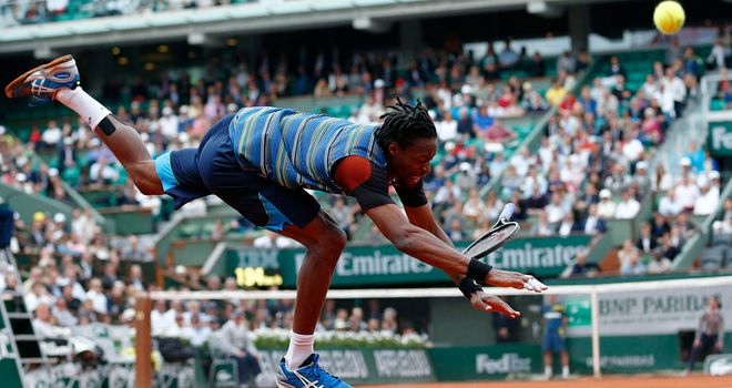 Gael Monfils: Needed more than four hours to reach the second round at Roland Garros