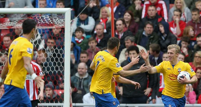 James Ward-Prowse set up Southampton's leveller for fellow substitute Jason Puncheon
