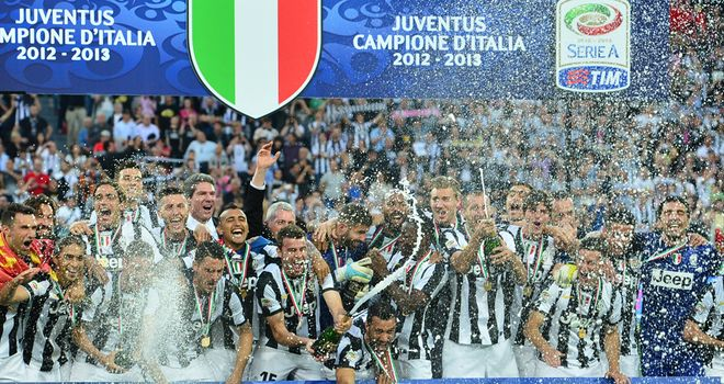 Juventus celebrate their title success