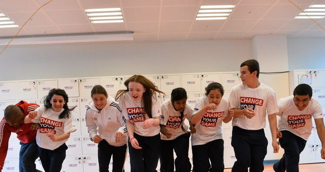 Students engaged in the Sky Sports Living for Sport campaign