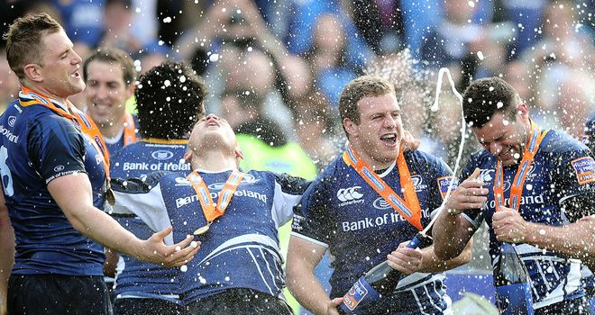 Leinster celebrate last season's title