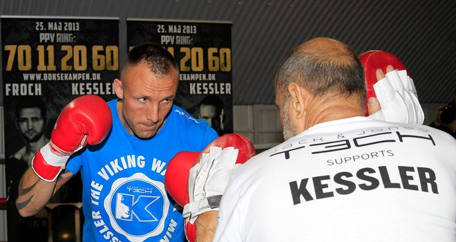 Rolling: Kessler and goes through a workout at Hayemaker Gym.